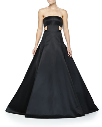 Duchess Satin Cutout Gown