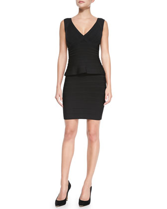 Essential V-Neck Peplum Dress