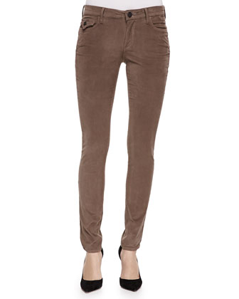 Halle Flap-Pocket Skinny Pants