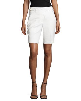 Twill Utility Shorts, Ivory
