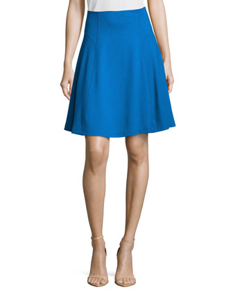 Ponte Flounce Skirt, Royal