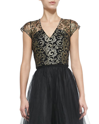 NOIR Sachin + Babi Adore Sleeveless Lace Top