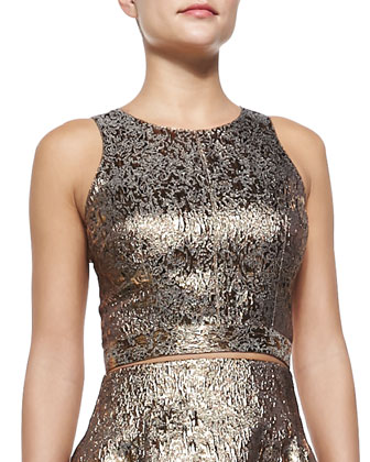 Torchon Sleeveless Metallic Tank