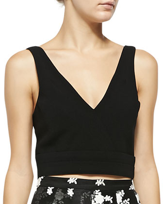Hamilton V-Neck Crop Top