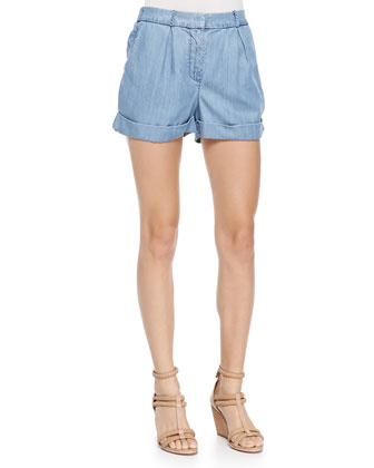 The Night Pleated & Cuffed Shorts