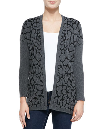 Animal Jacquard Cocoon Cardigan