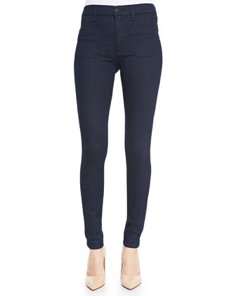Quinn Sailor-Style Skinny Jeans, Storm