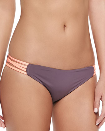 L Play Savasana Swim Top, Sensual Solids Estella Swim Bottom & Colorblock ...