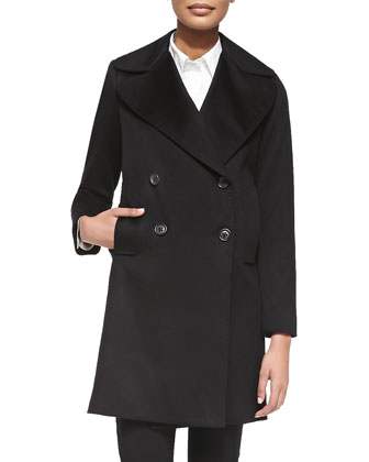 The Niki Cashmere Double-Breasted Coat
