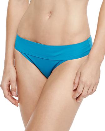 Halter Bandeau Swim Top & Folded-Waist Swim Bottom
