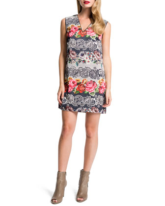Josie Floral-Print Shift Dress