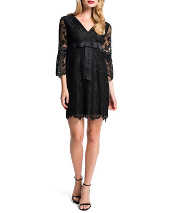 Clea Floral Lace Babydoll Dress
