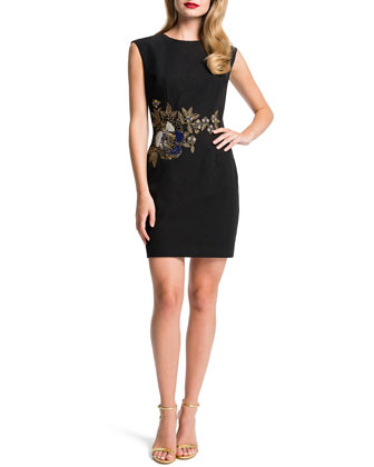 Kelsey Embroidered Sheath Dress