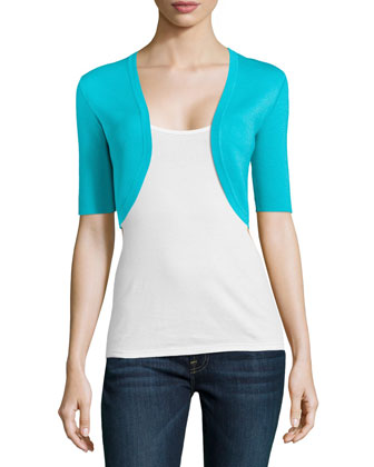 Half-Sleeve Shrug, Aqua