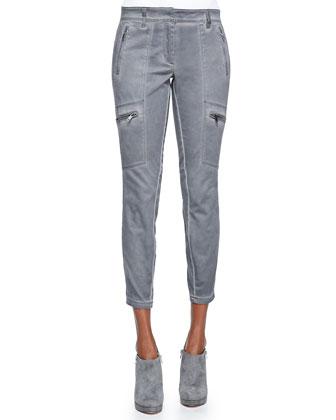 Twill Skinny Cargo Pants