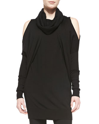 3/4-Sleeve Cold-Shoulder Shrug