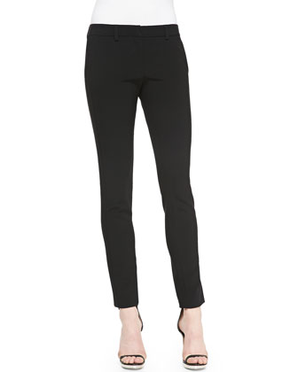 Narrow Full-Length Pants, Black