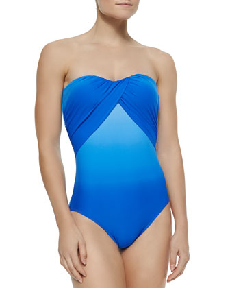 Miami Strapless Draped Maillot