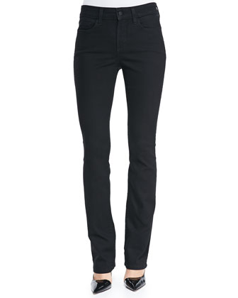 Marilyn Straight-Leg Jeans, Black, Petite