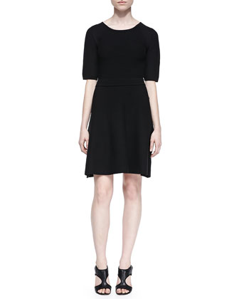 Cadence Ottoman-Stitch Dress