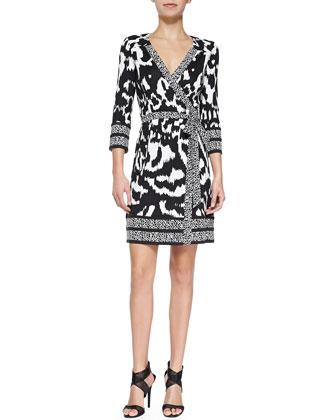 Tallulah Printed Silk Wrap Dress