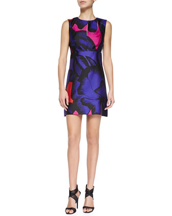 Yvette Floral-Print Sateen Dress