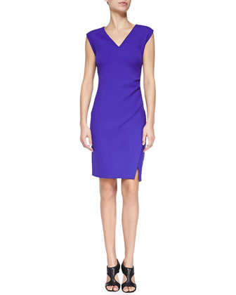 Megan V-Neck Slim Ponte Dress