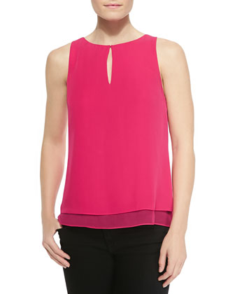 Raica Sleeveless Layered Top W/ Keyhole