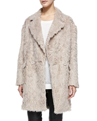 Sam Faux-Fur Oversize Coat