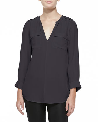 Marlo Front-Pocket Blouse