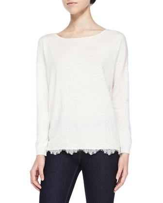Bastienne Lace-Hem Sweater