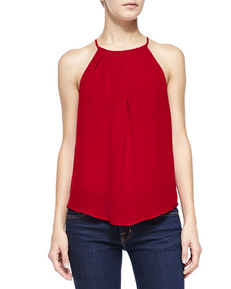 Amarey Sleeveless Silk Tank