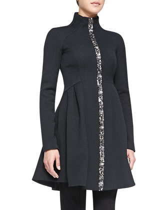 Three-Ring Coat W/ Zip Front