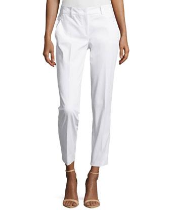 Samantha Skinny Ankle Pants, Optic White