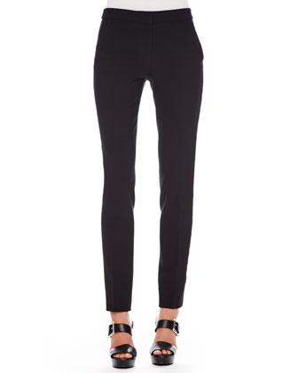 Slim Tuxedo Pants, Black