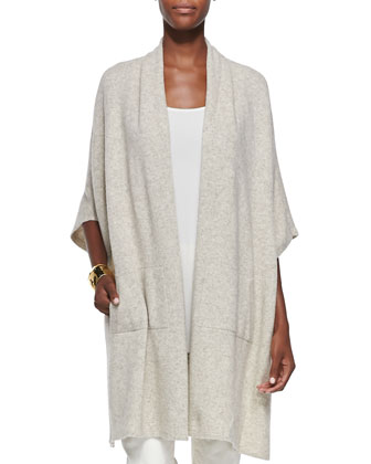 Kimono Fine Super-Soft Cape, Silk Georgette Tank, Slim Stretch Ankle Jeans ...
