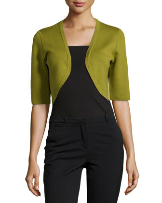 Merino Half-Sleeve Shrug, Leaf