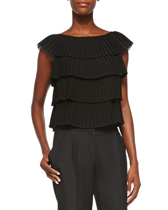 Silk Pleated Layer Blouse