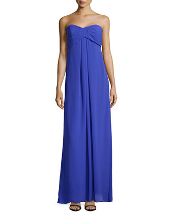 Water Wash Georgette Gown, Blueberry