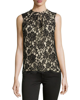 CHANTILLY LACE SHELL TOP