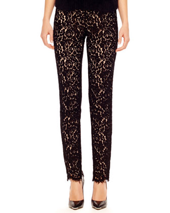 Fitted Lace Pants