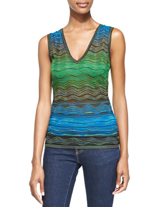 Degrade Ripple Knit Tank Top