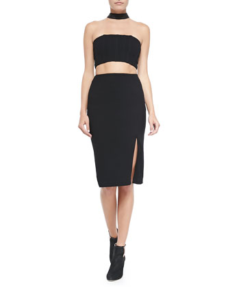 Evy Cutout Choker Pencil Dress
