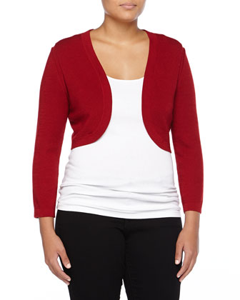 Cashmere-Silk Bolero, Rose Red