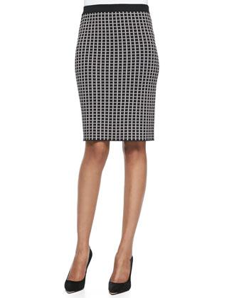 Double-Knit Jacquard Slim Skirt