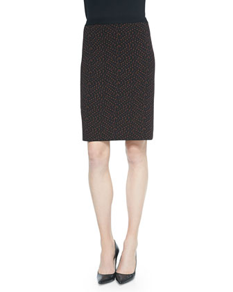 Jacquard Slim Pencil Skirt