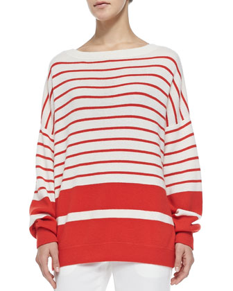 Cashmere Banded Ribbed Sweater