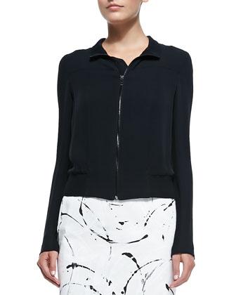 Large U-Shaped Necklace, Toriana Bomber Jacet & Priscilla Knit Skirt