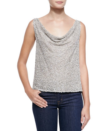 Viola Open-Back Sequined Top