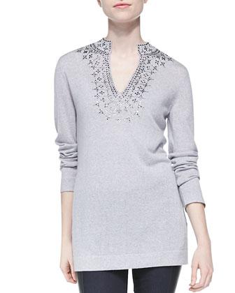 Marin Beaded Wool Tunic